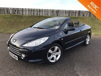 2009 PEUGEOT 307CC SPORT 2.0HDI 136PS - 85K MILES - F.S.H - TOP SPEC CONVERTIBLE - 6 MONTHS WARRANTY