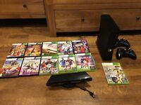Xbox 360 + 11 games inc FIFA 17 plus 2 x controllers and Kinect