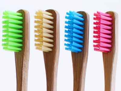 Bam Bamboo - Bam•Brush - 4 pack - Organic Bamboo Toothbrush - Variety Color