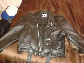 Terminator T2 3D Battle Across Time genuine Universal Studios leather jacket