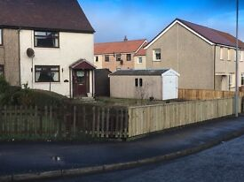 Slamannan nr Falkirk 2 bed semi detached house