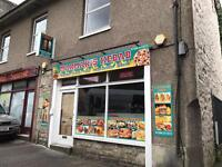 Takeaway shop, kebab shop, a3 licence, Indian Chinese pizza