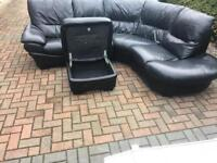 Italian leather corner sofa DFS DELIVERY AVAIL