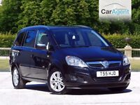 Vauxhall Zafira Design, low mileage,heated seats, front and rear sensors, £500 deposit £145 a month