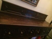 Cabinet sideboard 1950s era very long