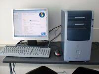 full pc setup hp desktop pc computer monitor keyboard mouse