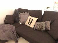 Grey Right Hand L Corner Sofa 1 year old DWELL