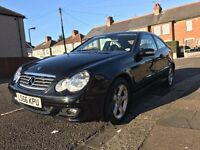 Great running Mercedes Benz Coupe C160 - Manual - Full year of MOT & TAX - Great Condition!