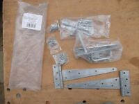 Gate pack of quality galvanised hinges, lock and bolts etc. TWO packs available.