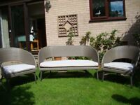 sofa and chairs suitable for garden or conservatory