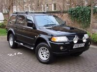 EXCELLENT DIESEL 4X4!! 2006 MITSUBISHI SHOGUN SPORT 2.5 TD TROJAN 5dr, AWD, LONG MOT, FULL LEATHER