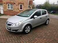 2008 VAUXHALL CORSA 1.2, MILEAGE 29000, SUNROOF, FULL SERVICE HISTORY, MOT 11 MONTHS, HPI CLEAR