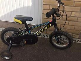 Boys Python bike with Stabilisers