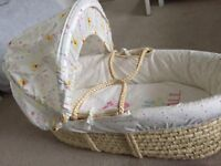 Never used Winnie the Pooh mothercare Moses basket