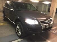 2009 vw touareg low mls fresh mot full spec touch screen nav pdc leather towbar immaculate fsh!!