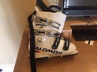 Ski boots - White Salomon Impact JR ski boots size 24.5