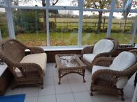 WICKER FURNITURE SUITE