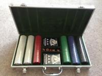 Poker Chips Playing Cards and Dice Set