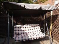 3 Seater Metal Swing garden seating furniture