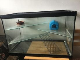 Glass cage for hamster/gerbils/mice