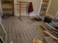 Experienced carpenters,hard wood floor fitters & dust free sanding
