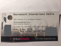 Stereophonics Standing Ticket @ BIC Bournemouth 5th March 2018