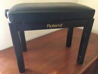 Roland piano stool, height adjustable, black