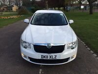 [[ AUTOMATIC+SATNAV+LEATHER+WHITE ]] SKODA Superb 2.0 TDI DSG 5dr
