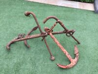 Old decorative boat anchors