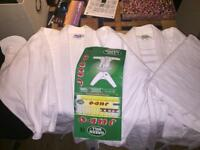 2x green hill judo suit tops + 1x trousers 160cm &170cm