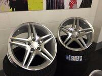 "4new 18"" Mercedes Style Alloys Wheels + Tyres CLA CLS CLK SL SLK A B C E S CLASS SPORT AMG C63 CL63"