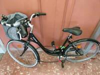 B'Twin ladies bike with Abus lock and other accessories