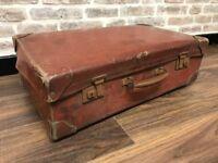 Vintage Brown Suitcase Trunk
