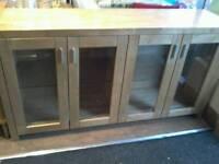 Heavy oak sideboard