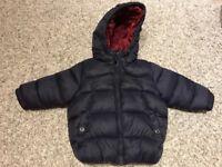 ZARA baby boy coat jacket size 12-18 months 1-1.5 great condition