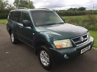 NOW SOLD Oct 2003 Mitsubishi Shogun Field 3.2DI-D 7 seater 5DR Automatic 4x4 1yrs Mot 6mth warranty