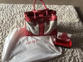 Geniune guess hangbag and purse
