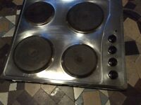 stainless steel electric hob in good condition