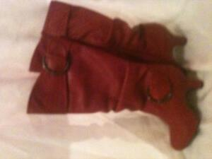 Red Boots Size 8 Women's