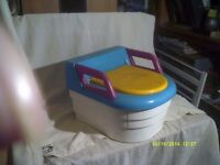 "THE "" ROLLS ROYCE "" of POTTIES a SUPERBLY DESIGNED & MADE POTTY / SEAT , VERY CLEVER"