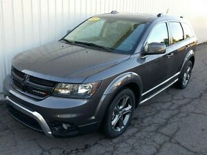 2015 Dodge Journey Crossroad LOW KMS/LEATHER/7 PASS/BACKUP CAM/F