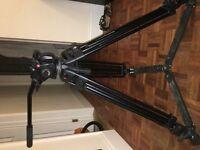 Manfrotto 501HDV Video Head on 525MVB Legs
