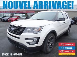 2016 Ford Explorer Sport**DVD*CUIR+GPS+AWD/ECOBOOST/