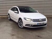 2013 Volkswagen CC 2.0 GT TDI BLUEMOTION WHITE PAN ROOF LEATHER NAV XENON**FACE LIFT WHITE