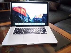 "Apple MacBook Pro 15"" Intel Core i7-8gig Ram 500gb Hard Drive 1GB Video Card Webcam WiFi Brand New Battery $699 Only"