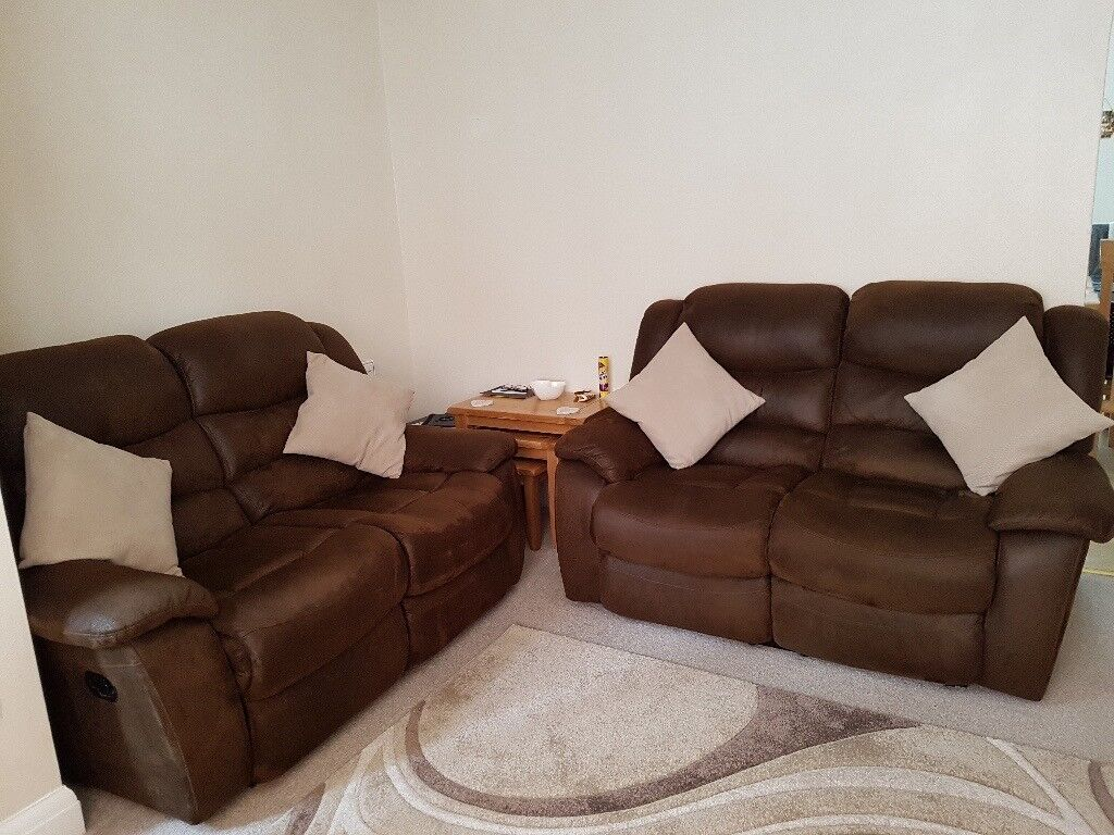Two 2 Seater Recliner Sofas In Margate Kent Gumtree