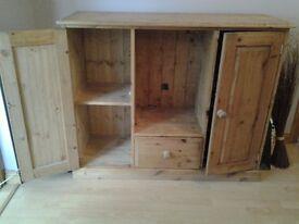 Soild Oak Sideboard with HI Fi Space