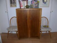 2 retro free standin wooden cupboards, originally gentleman's wardrobes, 1930s/40s era.