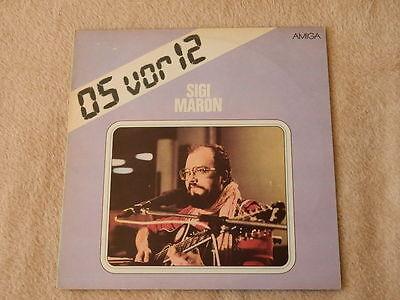 LP SIGI MARON 05 VOR 12 VINYL DDR 1983 AMIGA 8 55 982