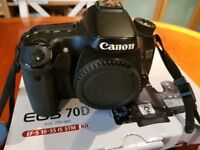Canon 70D DLSR and 18-55stm lens